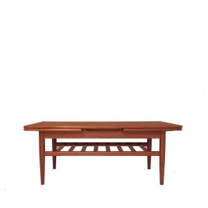 Table basse scandinave à 2 extensions et double plateau