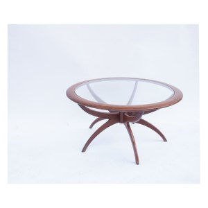 Table basse ronde Spider scandinave vintage #35