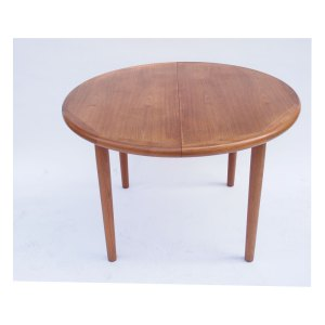 Table ronde de salle à manger scandinave « made in Danmark » vintage