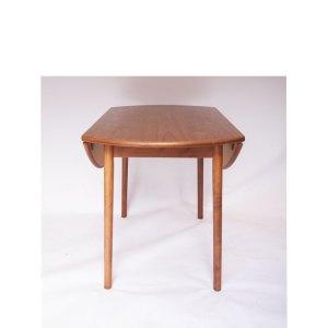 Table ronde pliante console à 2 abattants vintage scandinave