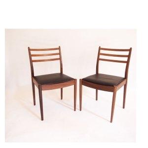 Paire de chaises scandinave vintage