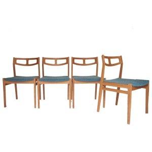 Ensemble de 4 chaises scandinave vintage danoises #100