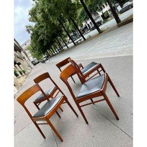 6 chaises scandinaves danoises vintage années 60