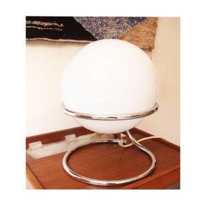 Lampe vintage globe opaline #2