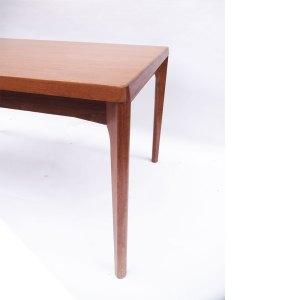 Table salle à manger ou bureau épurée scandinave vintage, 2 extensions #419