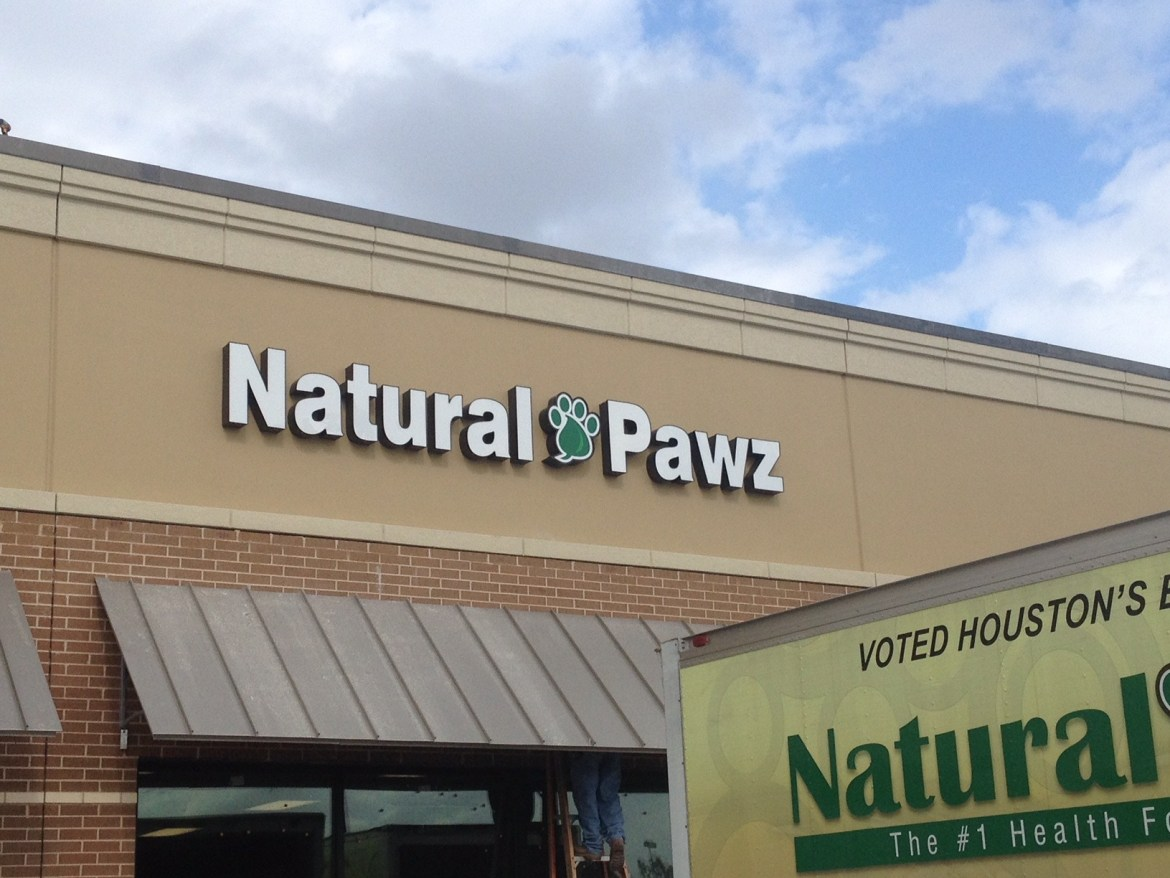natural pawz channel letters