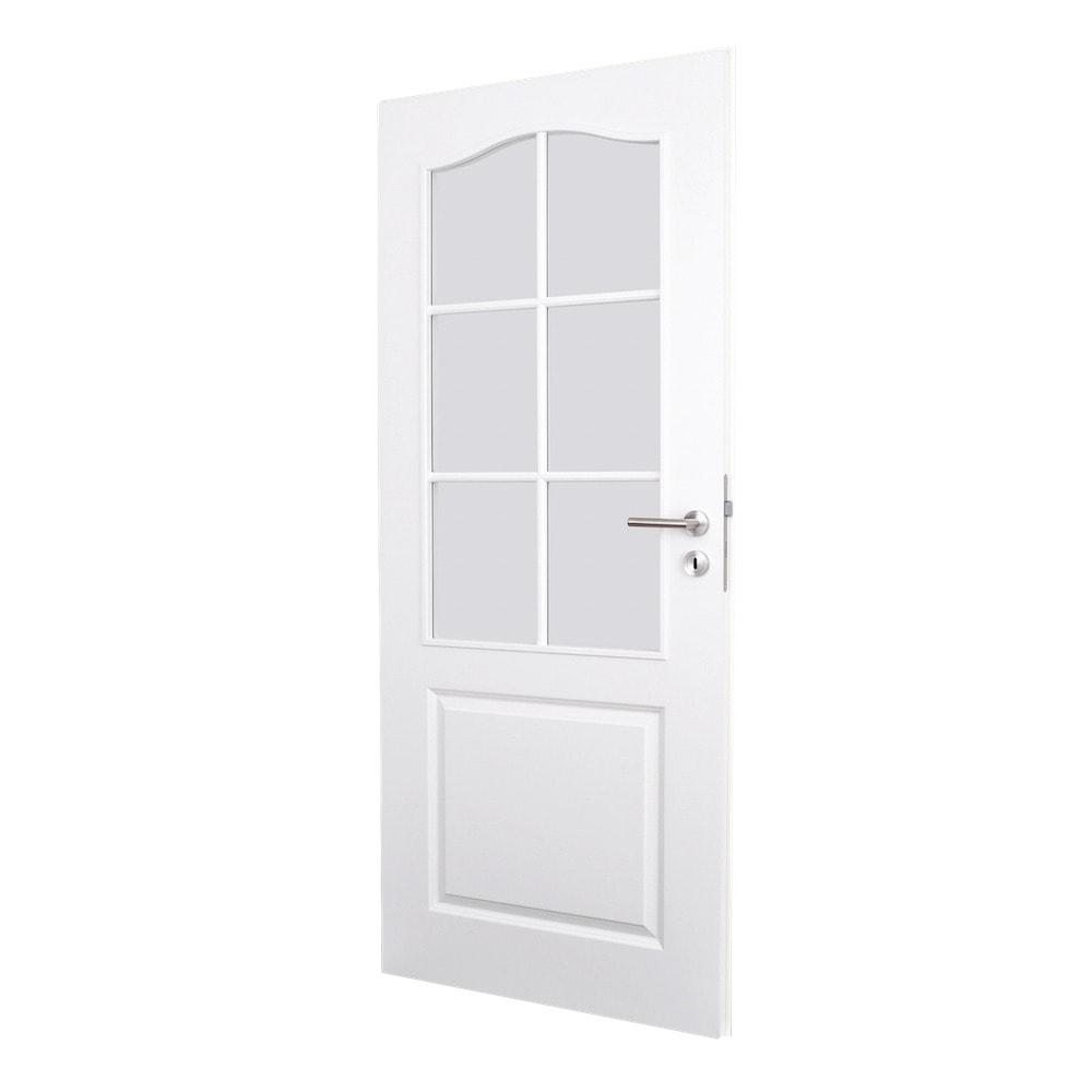 Weisse Tür mit Glas