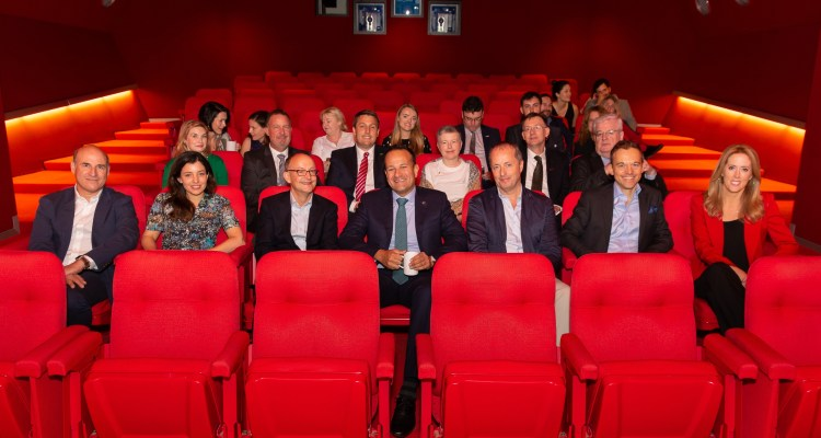 AN Taoiseach Leo Varadkar with Element Pictures, Hulu, Endeavour and Fox Searchlight Executives