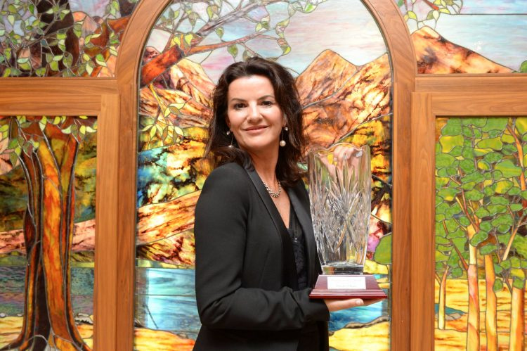 Actress and comedienne Deirdre O'Kane was present with the 'Maureen O'Hara Award' as part of The Kerry Film Festival at the weekend. Photograph by Sally MacMonagle.