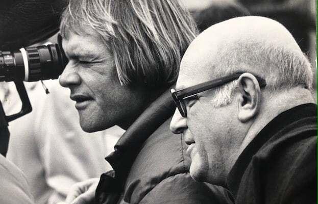 Nick McLean and John Schlesinger shooting Marathon Man