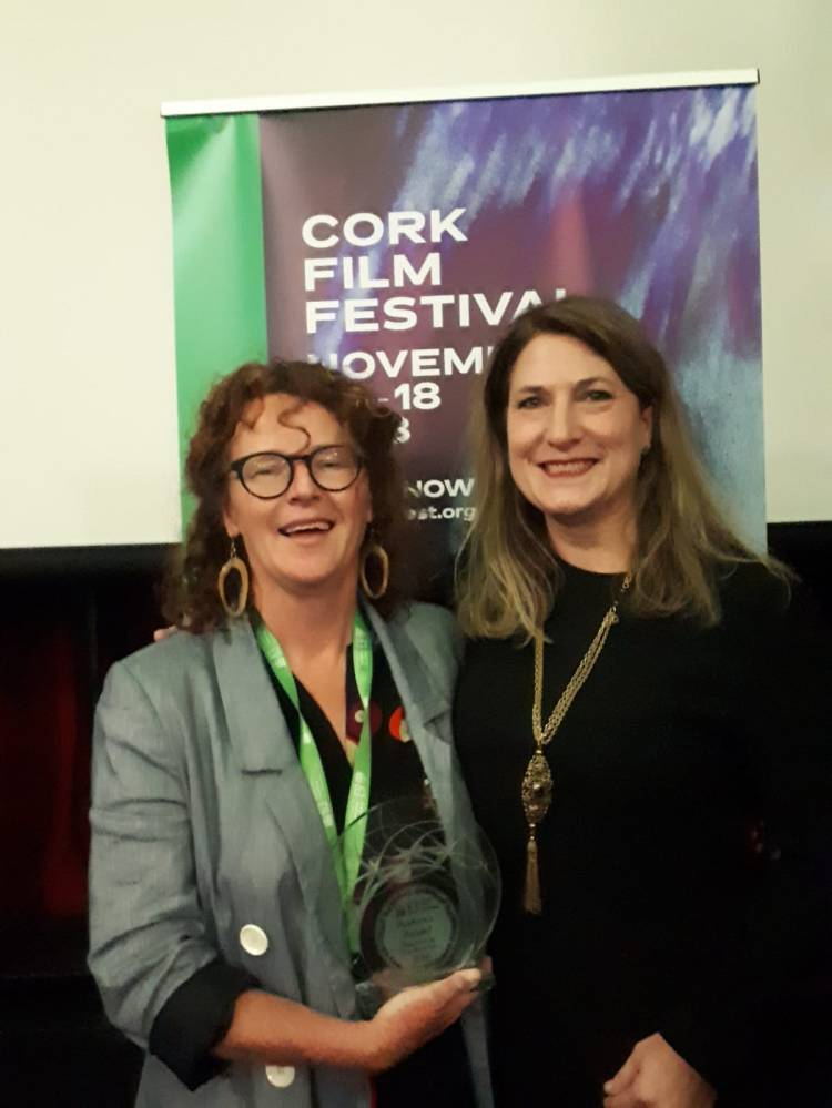 Float Like a Butterfly director Carmel Winters with Cork Film Festival CEO and Festival Producer Fiona Clark