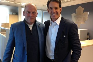 Ger Loughnane with ice hockey legend Brendan Shanahan for Poc na nGael