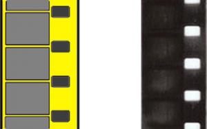Dubbel 8 en 8 mm smalfilm voorbeeld