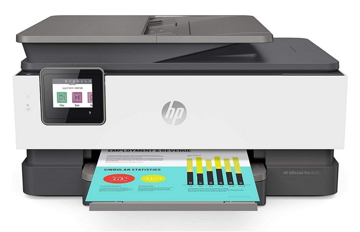 HP OfficeJet Pro 8035 HP All-In-One Long Lasting Ink cartridge printer
