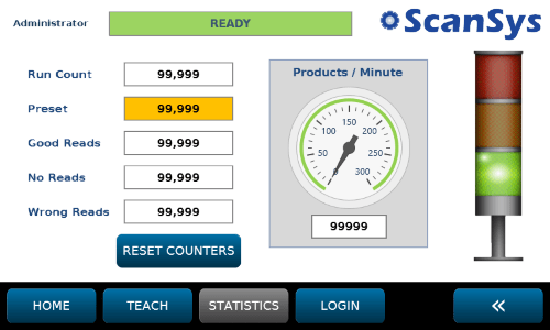 QV400 Production Run Statistics