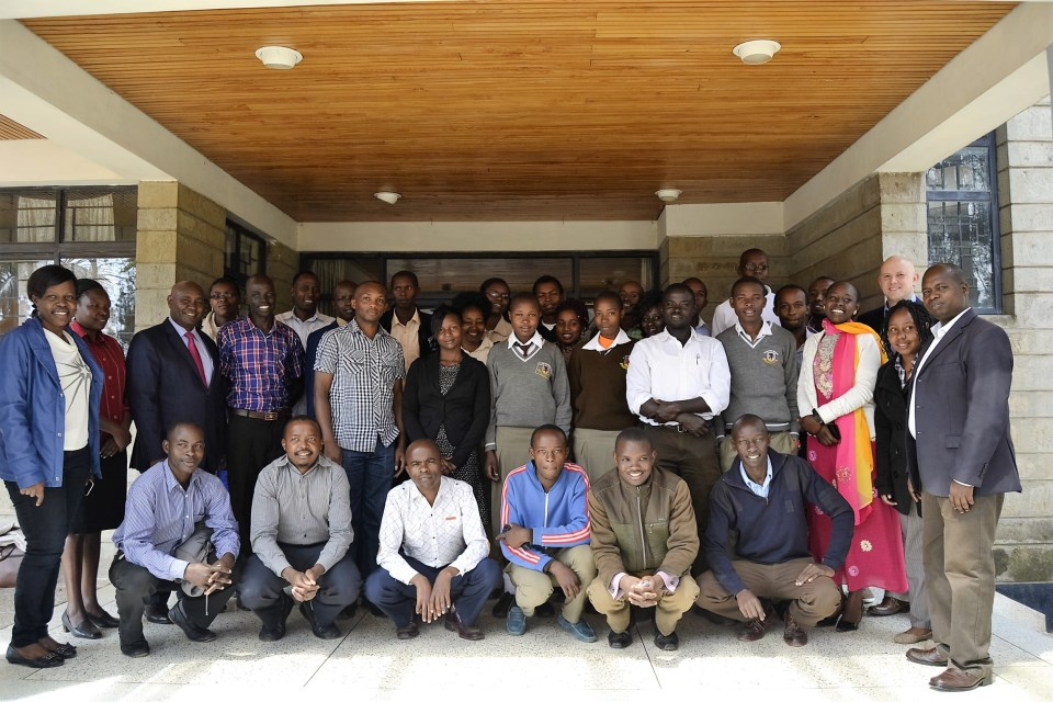 Group picture youth workshop SCARA APPEAR Egerton Kenya