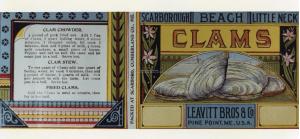 Leavitt Bros. Clam Label ca 1910