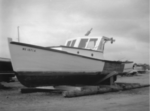 Donald Thurlow's lobster boat, Scarborough, 1943
