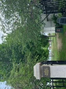 Photo of the entrance into the Eastern Cemetery, Portland, ME taken by Vana Carmona.