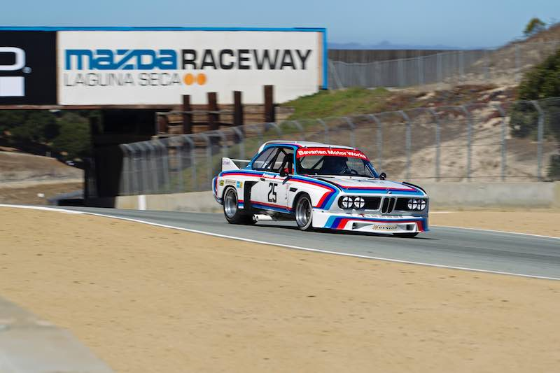 1975 BMW 3.0 CSL IMSA Group 4 to race at the Rolex Monterey Motorsports Reunion 2016.