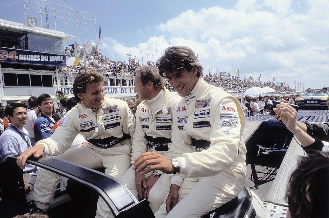 Winners on Sauber-Mercedes C 9, Group C racing car: Jochen Mass / Manuel Reuter / Stanley Dickens.
