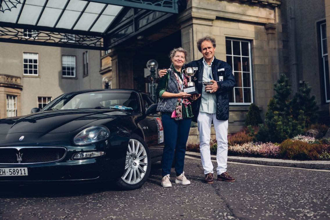 Gleneagles Hotel - Winners of the Peter Martin Trophy with their Maserati Coupe