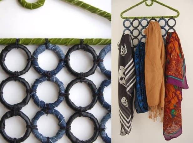 diy scarf organizer ideas