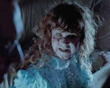 Linda Blair in the Exorcist