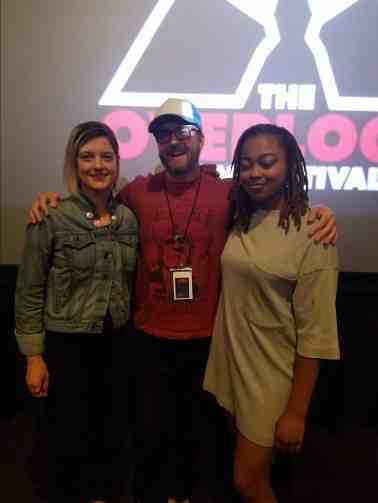 Short film directors Elaine Mongeon (Good Morning), Chris McInroy (We Summoned a Demon), and Zandashe Brown (Blood Flows Down). Hey Hollywood! There are some great young talents ready for bigger and better things!