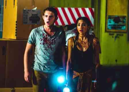Robbie Kay and Seychelle Gabriel in Blood Fest