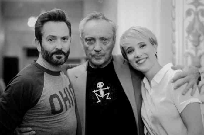 Thomas Lennon, Udo Kier, and Jenny Pellicer in Puppet Master: The Littlest Reich