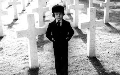 Harry Stephens (Damien) enjoying a graveyard in The Omen (1976)