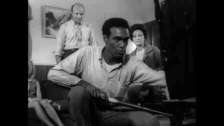 Duane Jones, Karl Hardman, and Marilyn Eastman in Night of the Living Dead (1968)