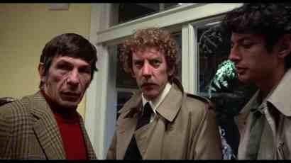 Leonard Nimoy, Donald Sutherland, and Jeff Goldblum in Invasion of the Body Snatchers (1977)