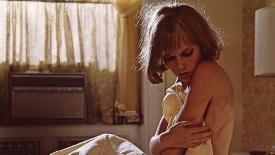 Mia Farrow wonders where those scratches came from in Rosemary's Baby (1968)