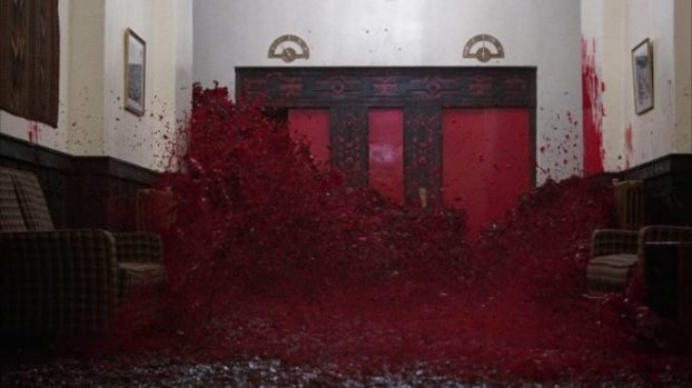 The bloodbath in The Shining (1980)