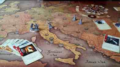 Fury of Dracula review board game set up