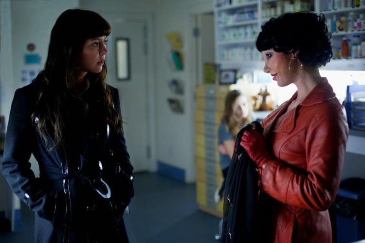 Katherine Isabelle and Tristan Risk in American Mary (2012)