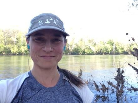 Mid-7 mile run, with the Potomac River behind me. Shepherdstown, West Virginia.