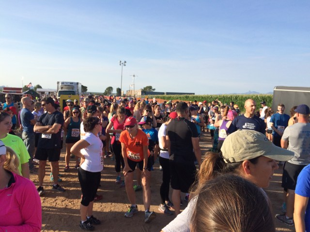 500+ runners waiting for the start.
