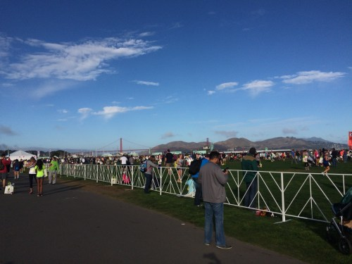 There was a beautiful view of the Golden Gate from the finish line.