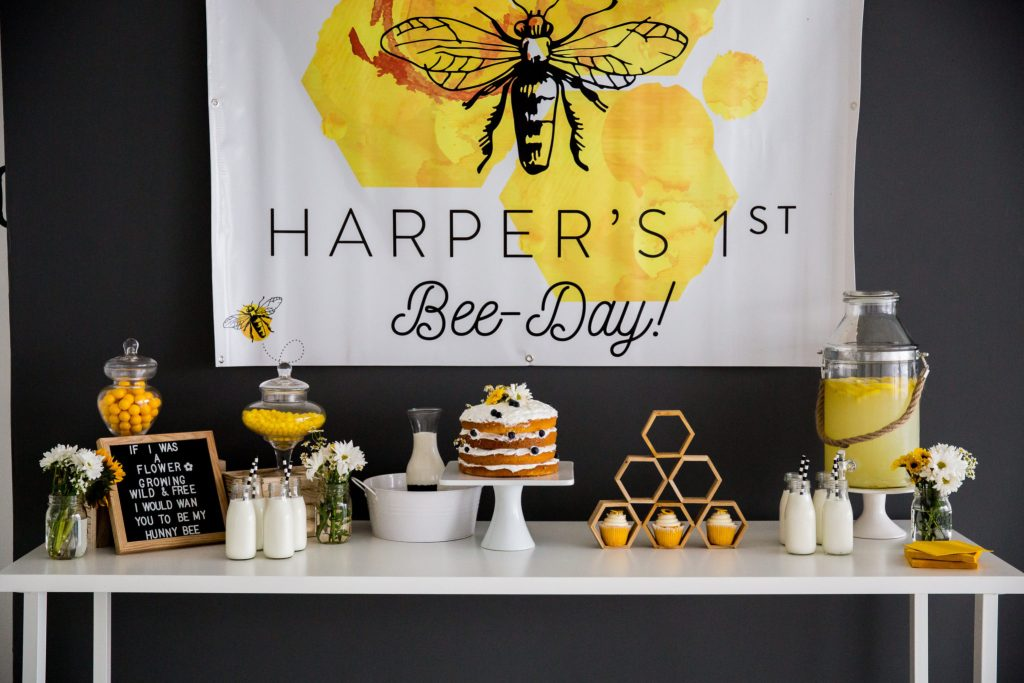 Harper's 1st Bee-Day display