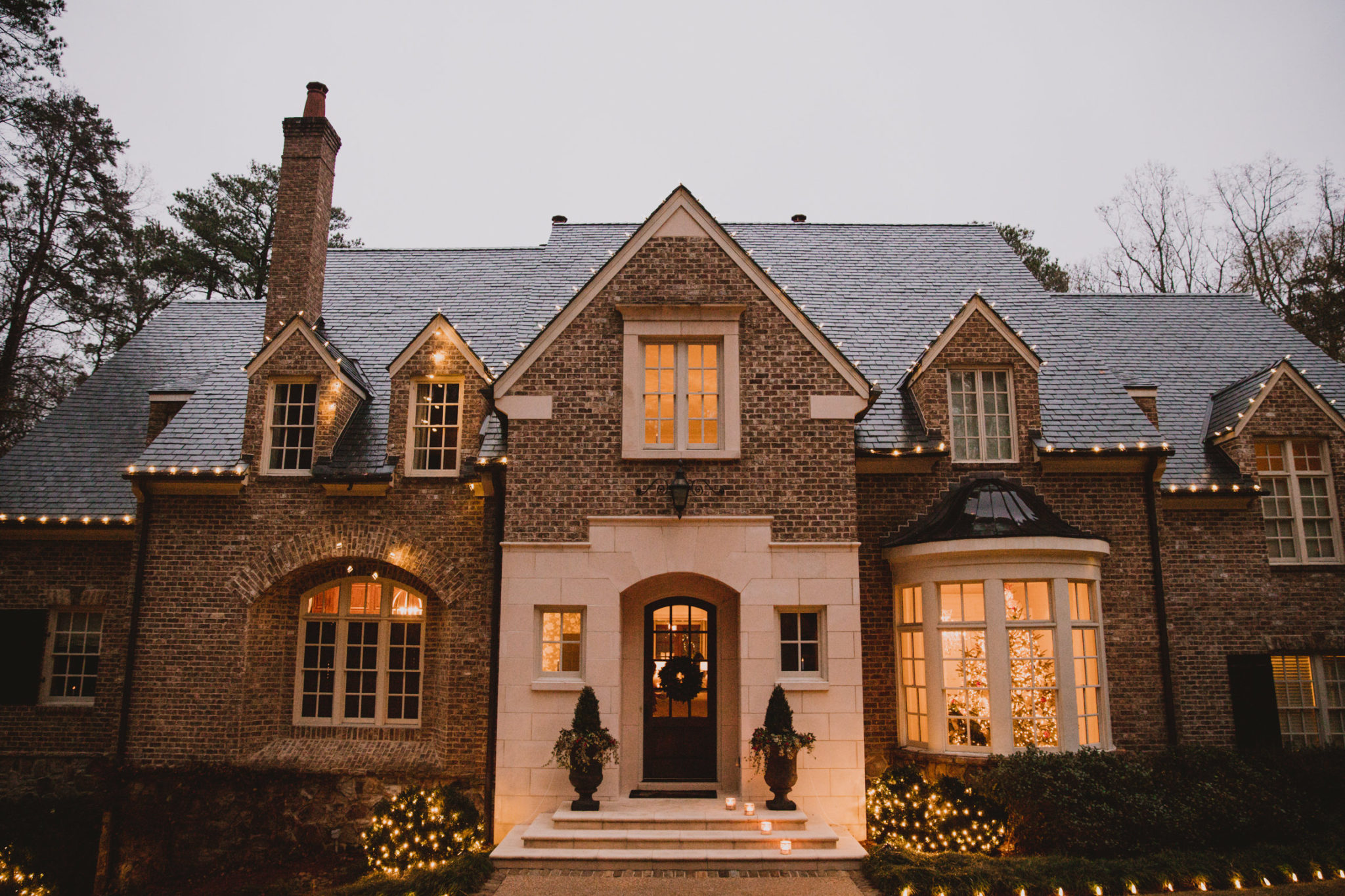 beautiful Atlanta home with holiday lights