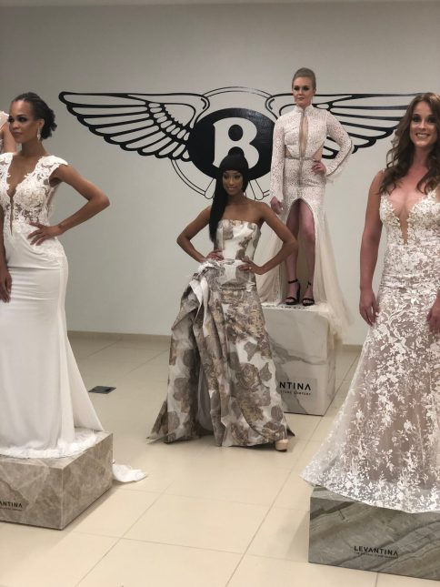 models wearing white at Bentley Atlanta fashion event