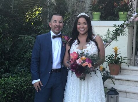 West Palm Beach groom and bride