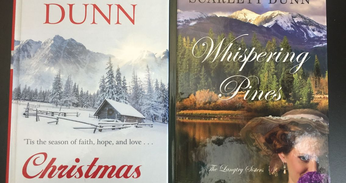 Large Print CHRISTMAS AT DOVE CREEK and WHISPERING PINES