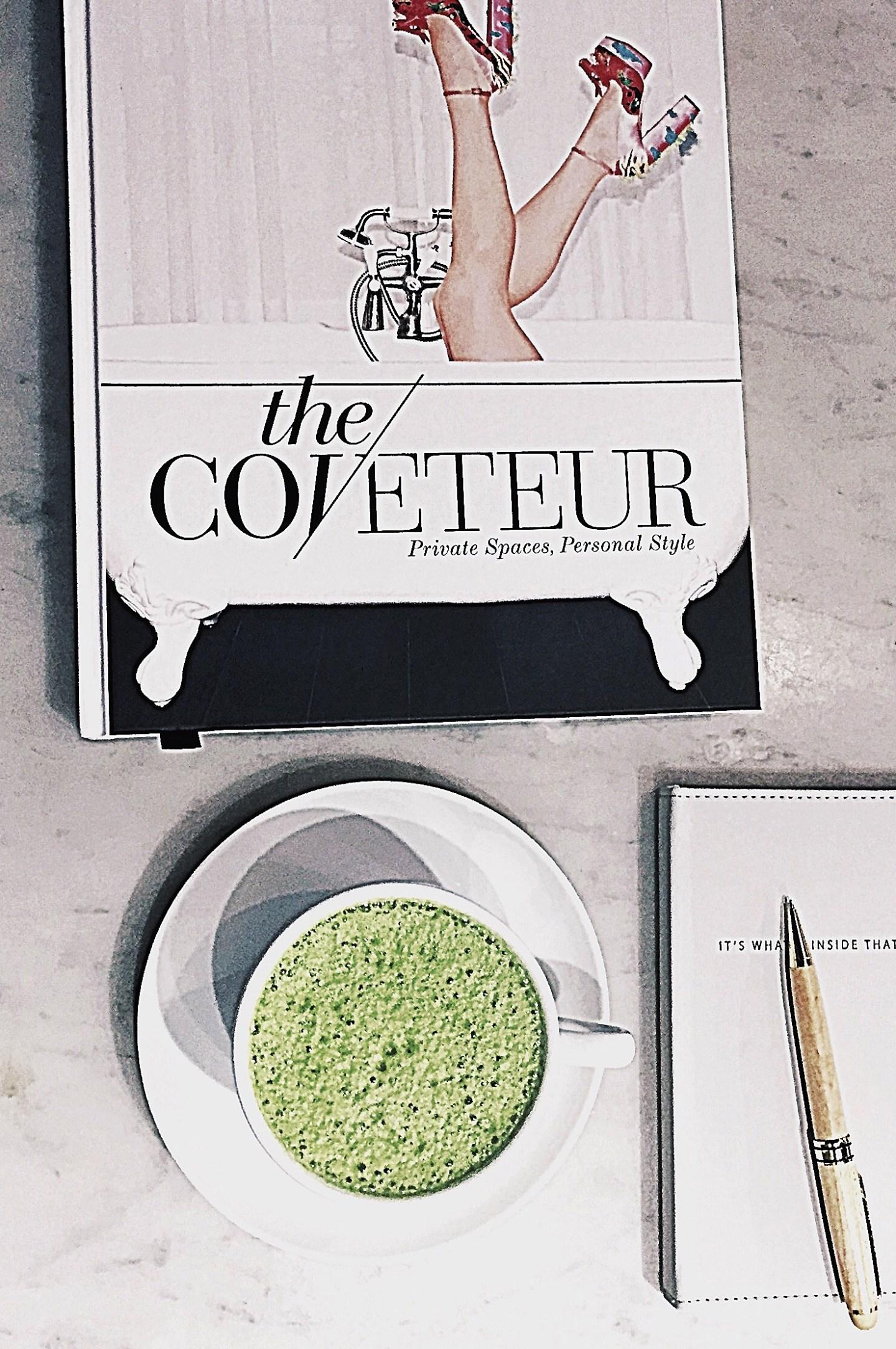 matcha latte & the coveteur
