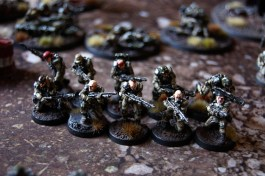 Veteran Droptroopers with shotguns and meltaguns.