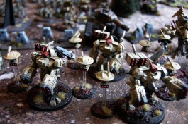 Three XV88 Broadsides provide the Tau with some much needed fire support!