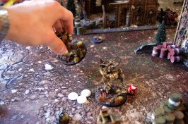 Jacob manages to place 3 markerlights on the vanguarding sentinels, and unleashes a deadly salvo of rail rifle fire, high yeild and smart missiles, exploding the walkers one after the other! This earns Jacob 'First blood!'